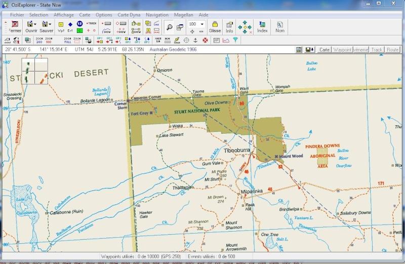 oziexplorer - OziExplorer et ses liaisons cartographiques Captur90