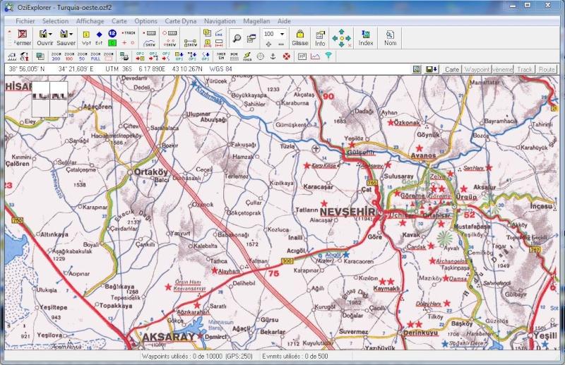 OziExplorer et ses liaisons cartographiques Captur91