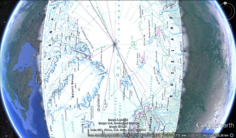 Essai - construction d'un overlay des zones polaires sur GE Gepola10