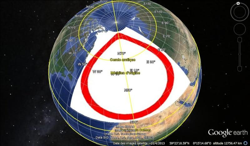 Essai - construction d'un overlay des zones polaires sur GE Test110