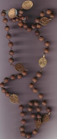 Médaille de chapelet à double bélière - Vierge des Sept douleurs et la Passion du Christ - XVIIIème Downlo10