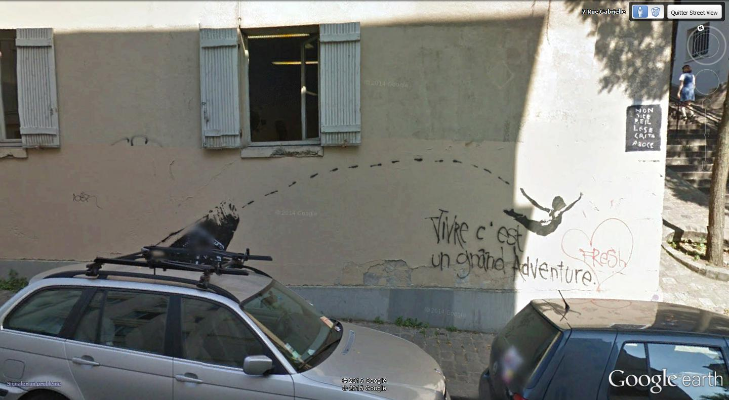 STREET VIEW : street art, grafs, tags et collages - Page 4 La_vie10