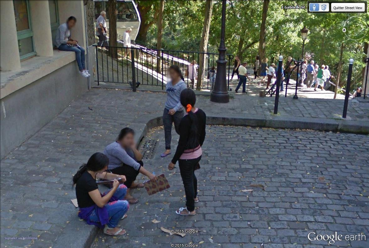 STREET VIEW : les pickpockets organisés de Montmartre Montma10