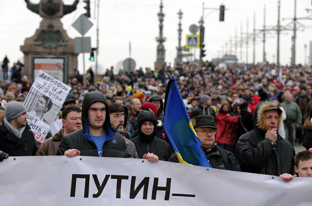 В Украине вследствие Майдана начинается третий период раздела ее территории Putin10