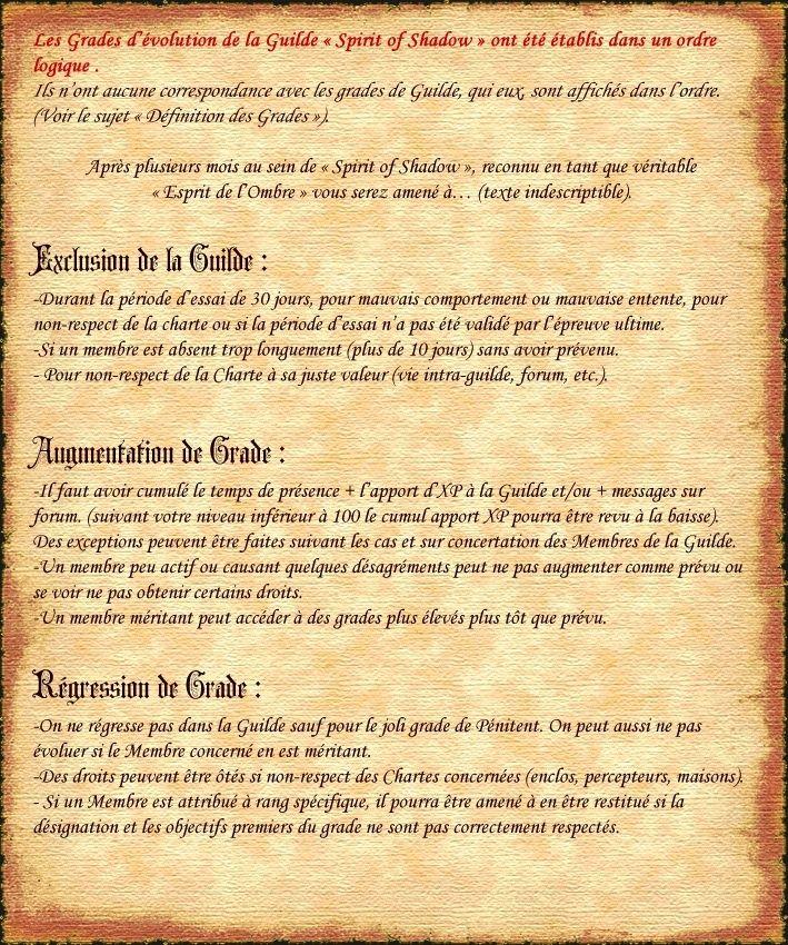 Acte III - EVOLUTION et GRADES Charte10
