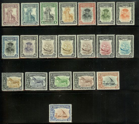 Freimarkensätze Nyassa10