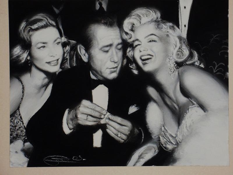 Lauren Bacall, Humphrey Bogart et Marilyn Monroe P9300010