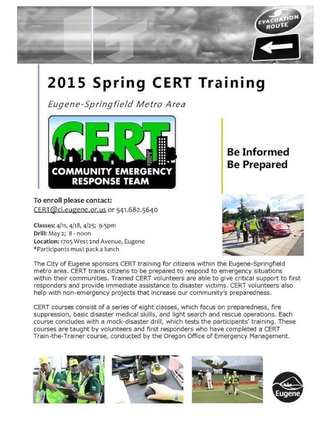 Eugene/Springfield CERT Spring Basic Training 10675510