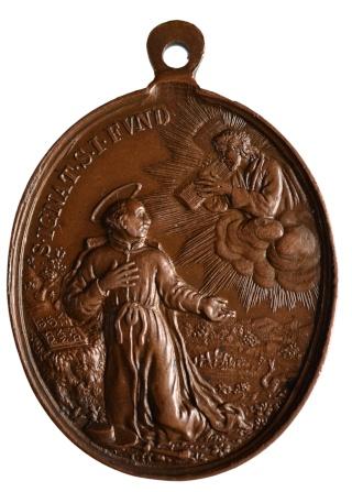 medalla S. Ignacio de Loyola / S. Francisco Javier S. XVII Pat_1512