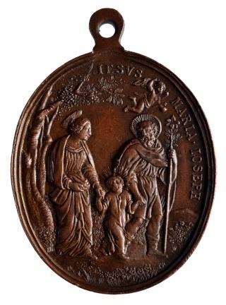 San Ignacio (Visión Storta) / Sagrada Familia  Giovanni Hamerani (R.M. SXIX-O56) Pat_1513