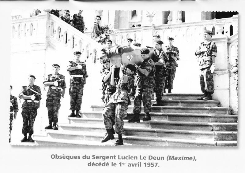 Osèques du sergent Lucien Ledun CPA 40, décédé le 1er avril 1957 Obscyq10