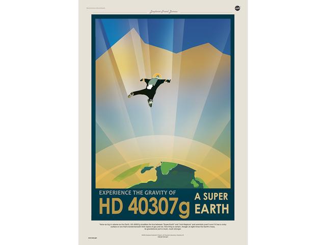 """Des affiches """"touristiques"""" NASA sur les exoplanètes Hd_40310"""