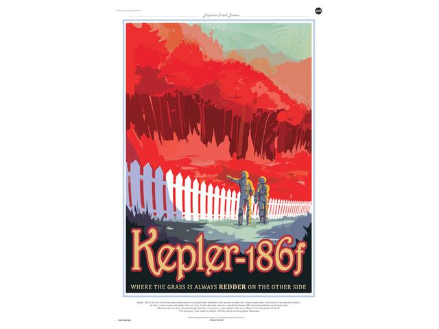"""Des affiches """"touristiques"""" NASA sur les exoplanètes Kepler11"""