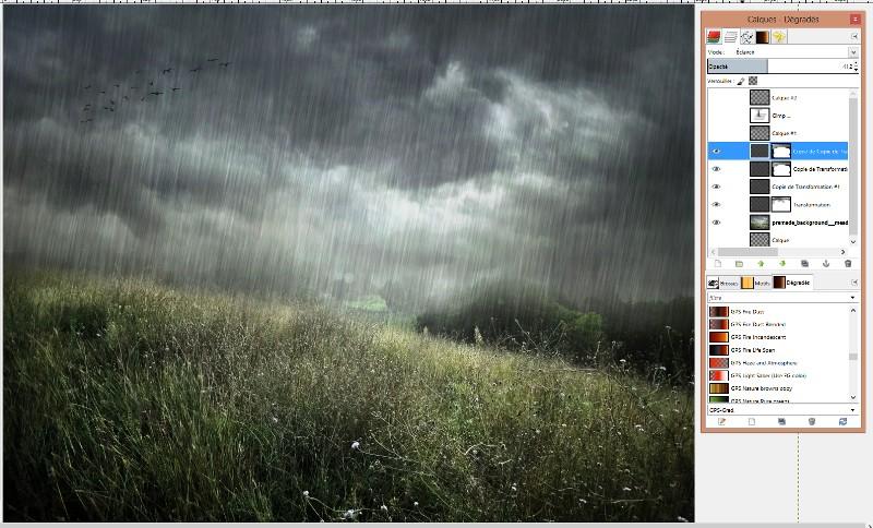 [Apprenti] Créer un effet de pluie Captur55