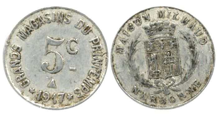 Moneda necesidad Narbonne 1917 Narbon10