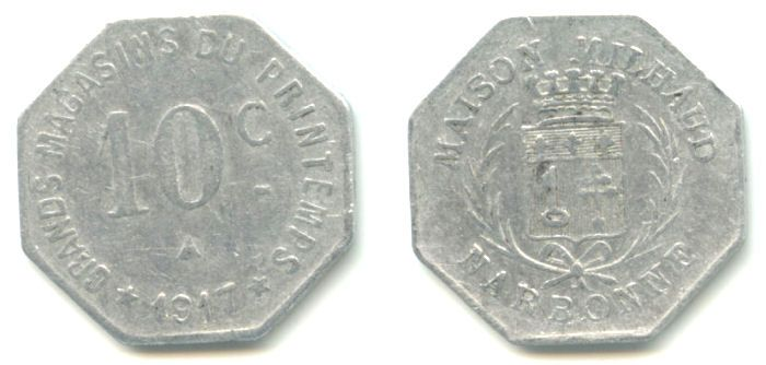 Moneda necesidad Narbonne 1917 Narbon11
