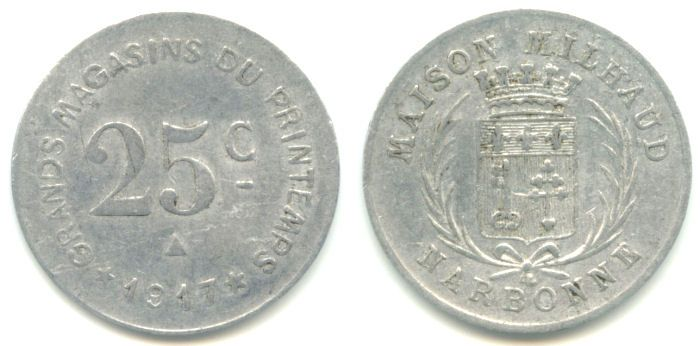Moneda necesidad Narbonne 1917 Narbon12