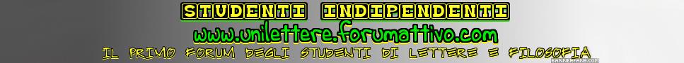 Forum di Lettere & Filosofia - Studenti Indipendenti