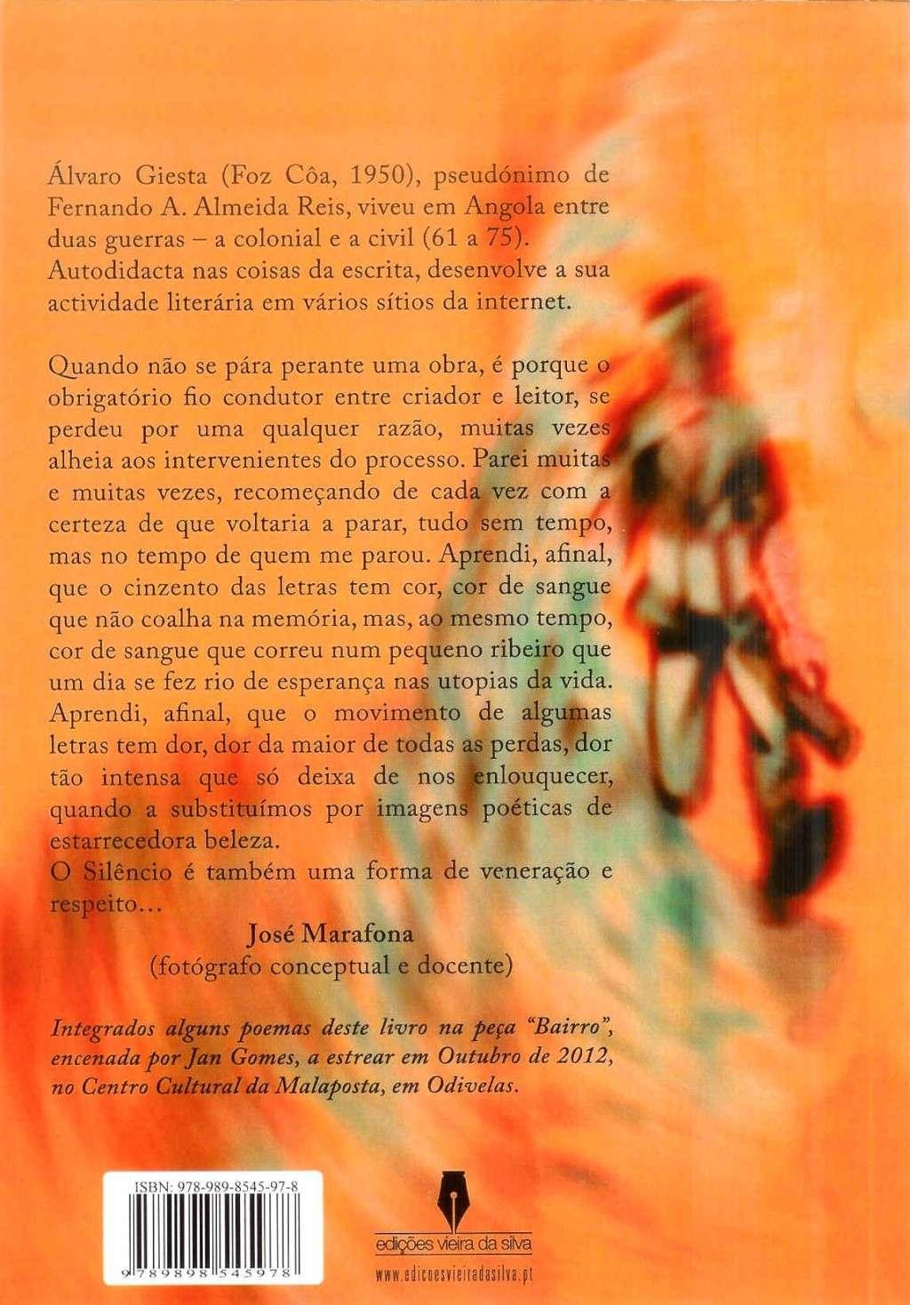 Lançamento do livro «Há o silêncio em volta» autor: Álvaro Giesta, no Clube Social de Rio Mau Alvaro11
