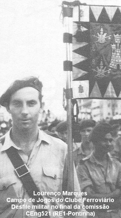 Saudação de Manuel Pinto (319), da CEng521(CSap521) Moçambique 1963/1966 Ceng5210