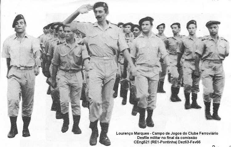 Saudação de Manuel Pinto (319), da CEng521(CSap521) Moçambique 1963/1966 Ceng5211