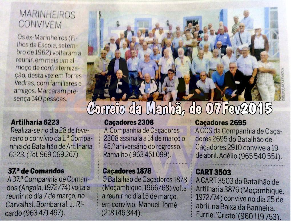 Encontros Convívios de ex-Militares Portugueses, in Correio da Manhã, de 07Fev2015 Encont10