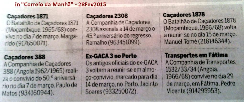 Encontros Convívios de ex-Militares Portugueses, in Correio da Manhã, de 28Fev2015 Encont11