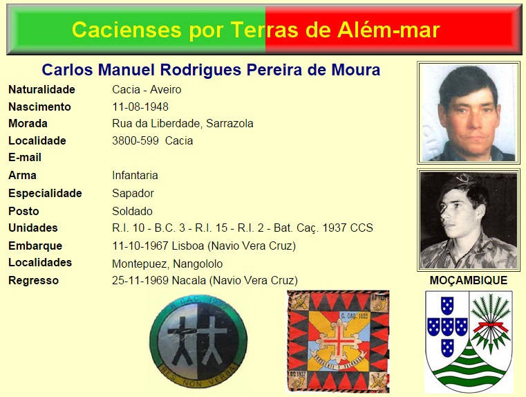 Faleceu o veterano Carlos Manuel Rodrigues Pereira de Moura, da CCS/BCac1937/RMM - 23Jan2015 Nota_d10