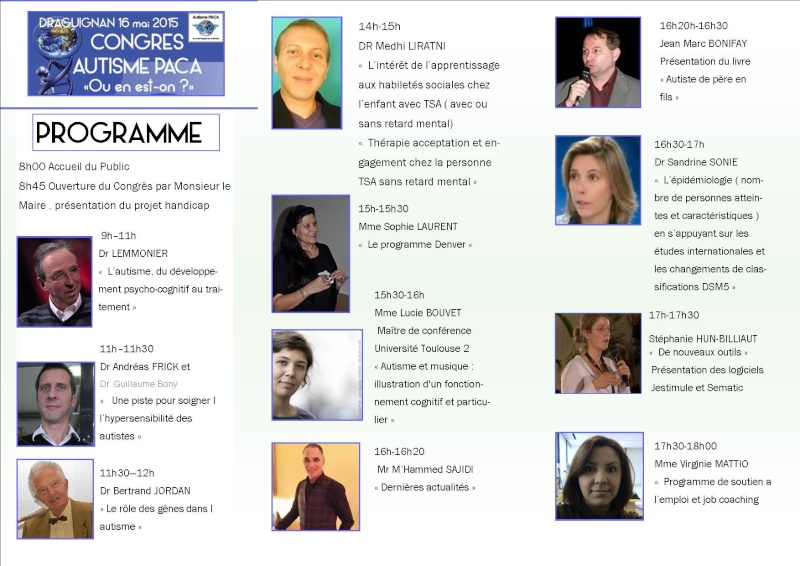 Congrès autisme paca draguignan  Progra10