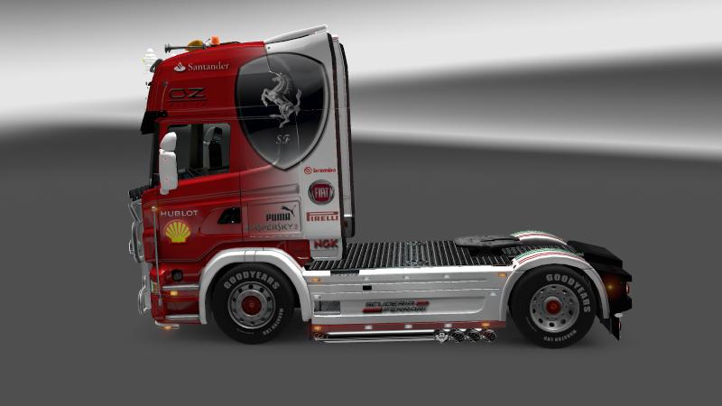 SKIN : Scania Ferrari F1 Team + Remorque Scania10
