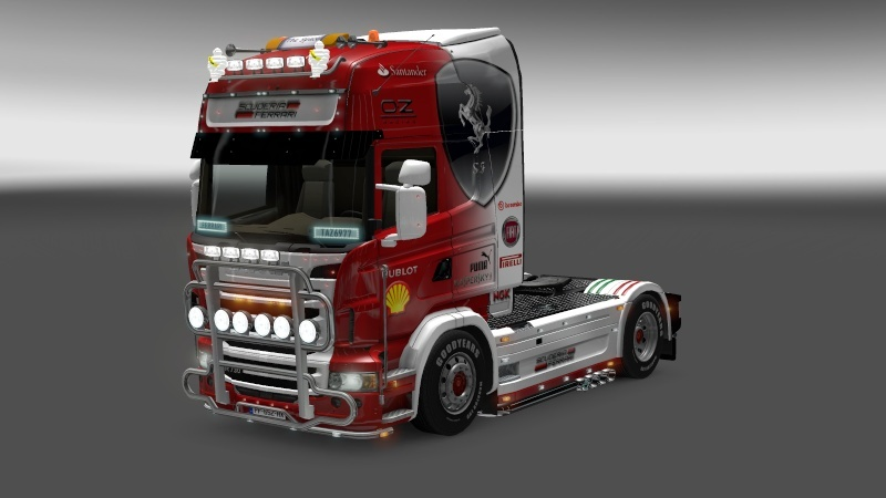 SKIN : Scania Ferrari F1 Team + Remorque Scania11