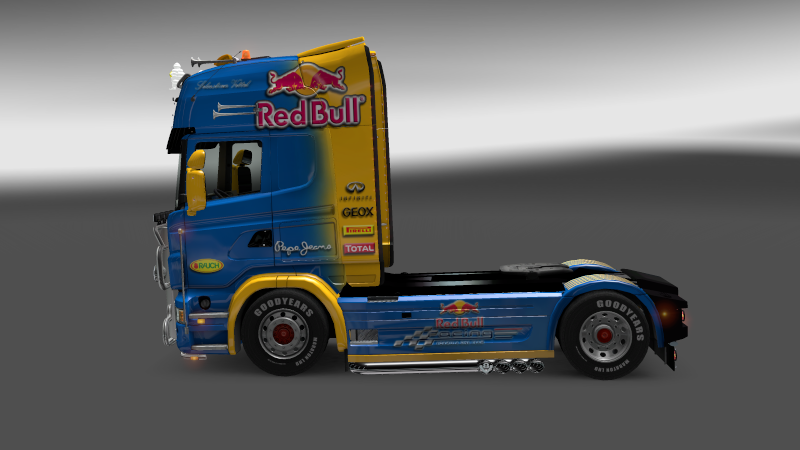 SKIN : Scania Red Bull F1 Team + Remorque Scania12