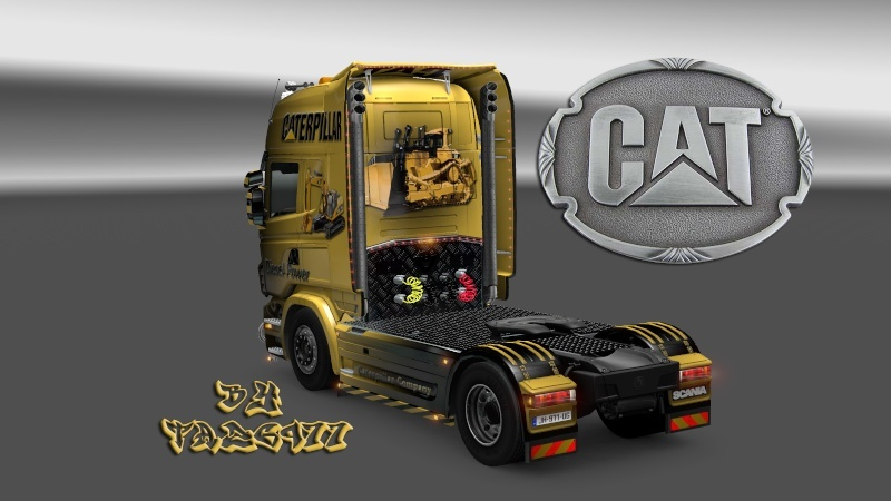 SKIN : Pack CATERPILLAR  Scania17