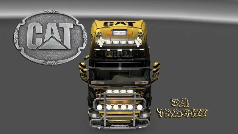 SKIN : Pack CATERPILLAR  Scania18