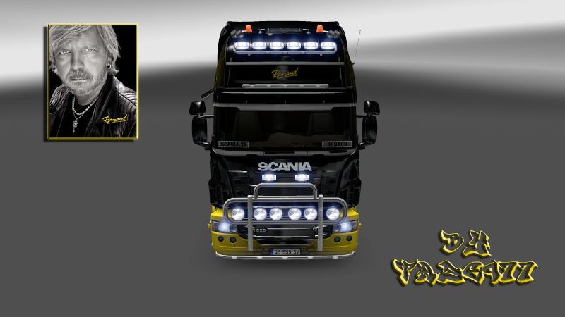 "SKIN : Scania "" Chanteur Renaud "" Scania24"