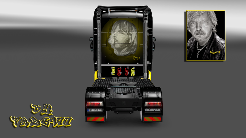 "SKIN : Scania "" Chanteur Renaud "" Scania25"