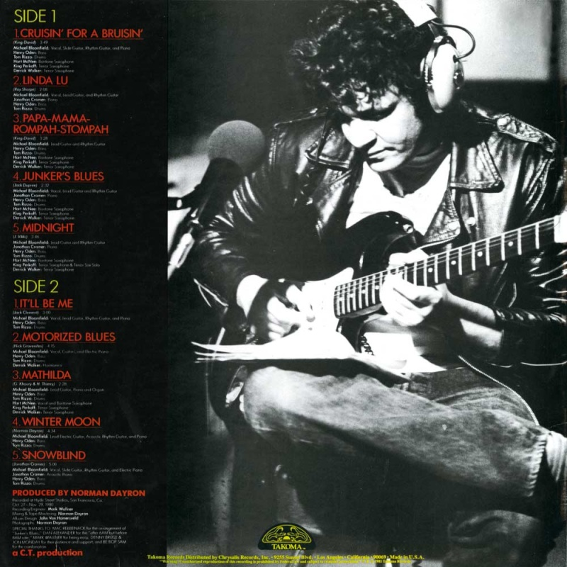 Michael Bloomfield : Between The Hard Place And The Ground/Cruisin' For A Bruisin' (2008) Cdtak-10