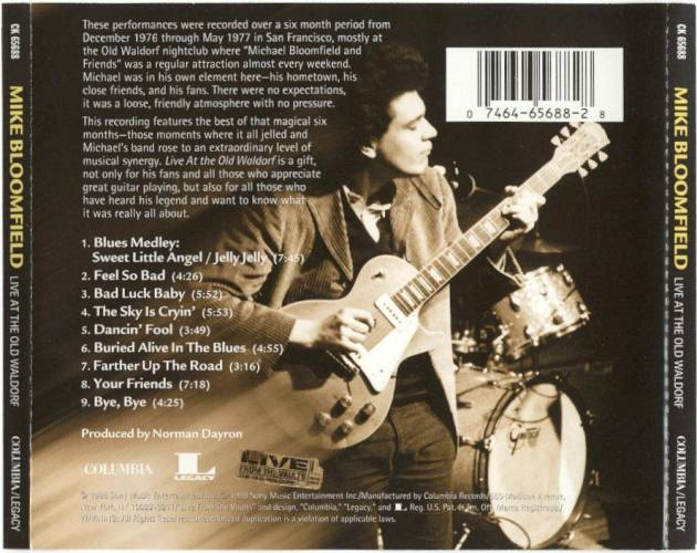 Michael Bloomfield : Live At The Old Waldorf (1998) Flive_11