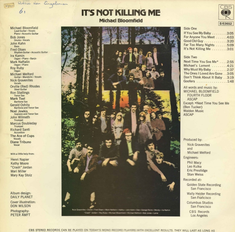 Michael Bloomfield : It's Not Killing Me (1969) Michae10