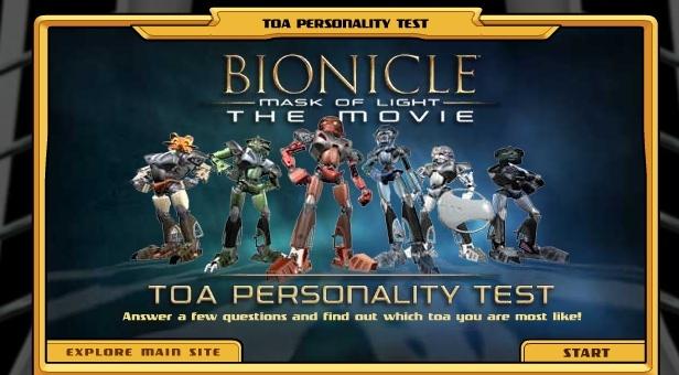 """[Software] Jeux Bonus d'après BIONICLE 1, le Mask de Lumière. (y compris un test de """"Toa"""" ) Mo1l10"""