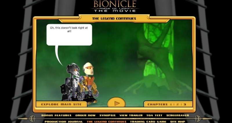 """[Software] Jeux Bonus d'après BIONICLE 1, le Mask de Lumière. (y compris un test de """"Toa"""" ) Mol11"""