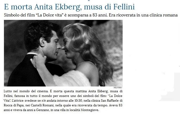 Addio ad Anita Ekberg Anita10