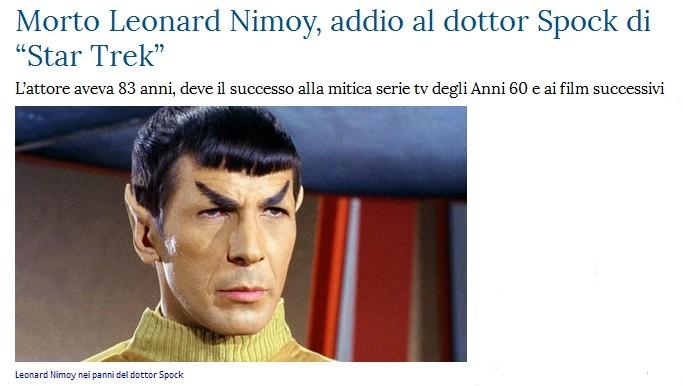 Addio a Leonard Nimoy Spook10
