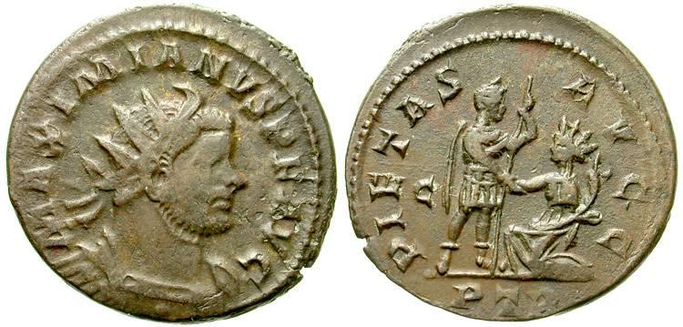 Aureliani pour Trèves de Dioclétien et de ses corégents  17189l10