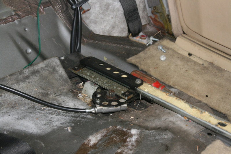 Démontage dossier électrique W126 300sel20
