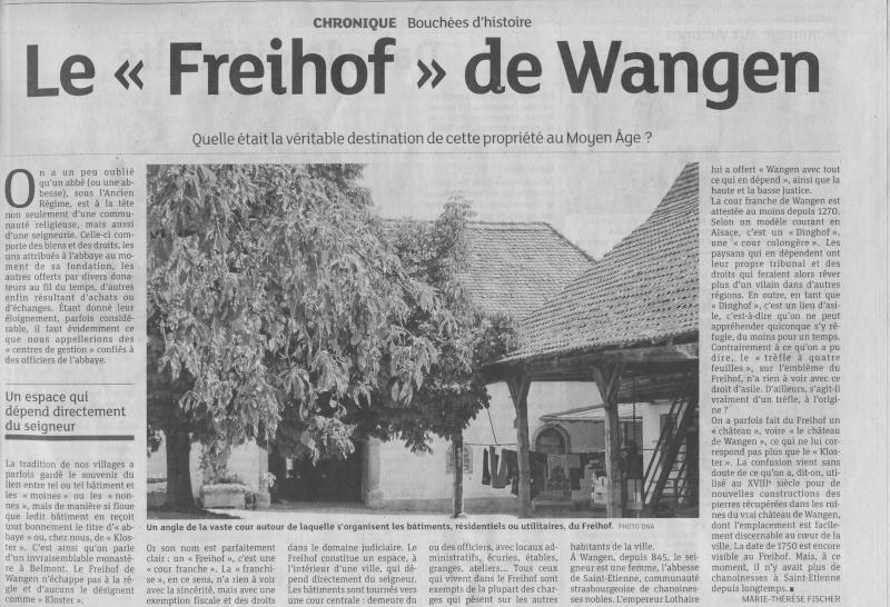 Wangen - Bouchées d'Histoire- Marie-Thérèse Fischer-DNA Image010
