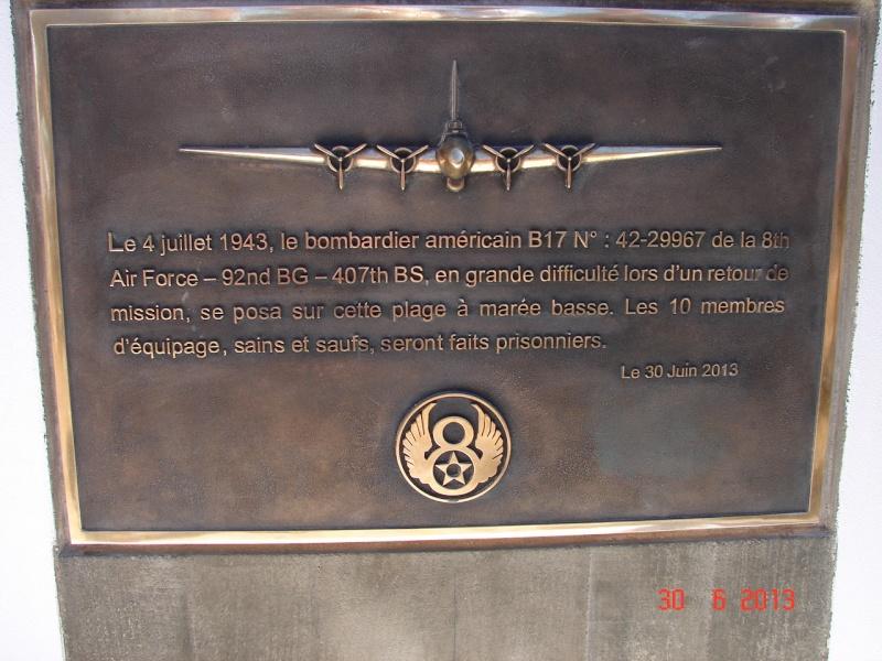 [ Histoires et histoire ] Un monument en l'honneur d'un B17 Dsc06520