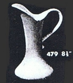 Shape 479 Slender Pitcher Jug Vase ... 479_or10