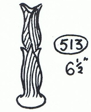 493 Vase which is similar to the 513 Slendour Specimen vase 51310