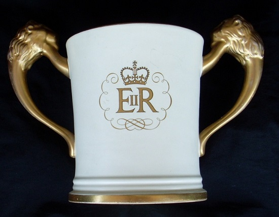 Hand Potted Coronation Love Cup Loving10
